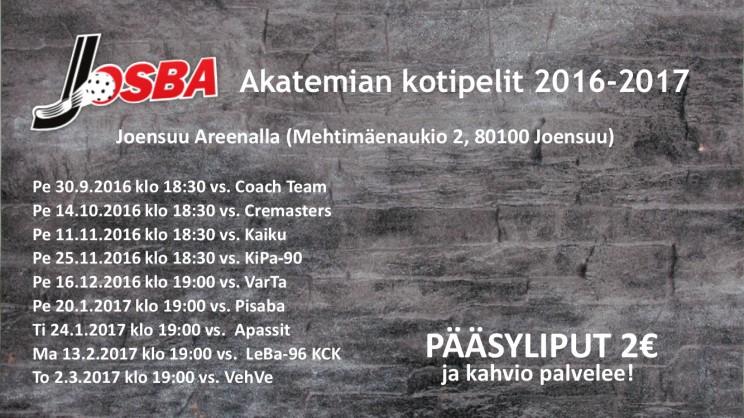 JOSBA AK PELIT 2016-2017